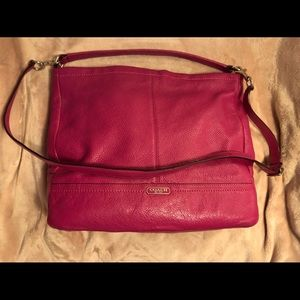 Hot Pink Leather Coach Bag
